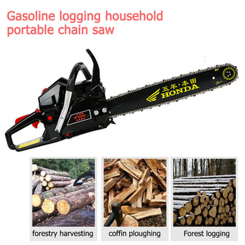 3.8KW portable handheld DIY chainsaw chain upgrade woodworking power tool set 18 20 22 CM angle grinder into a chain saw