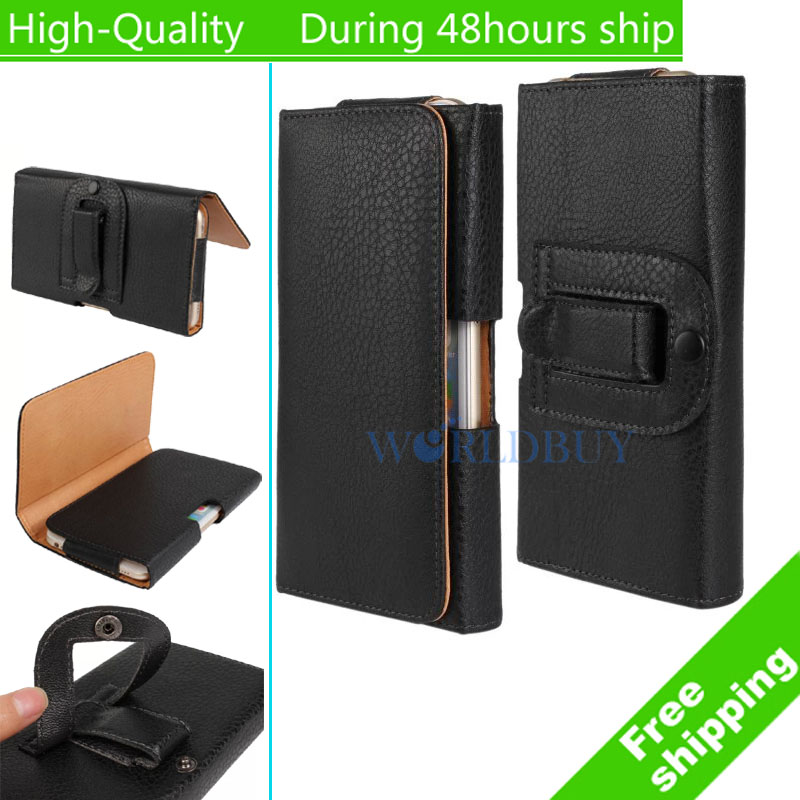For iPhone 7 iPhone 7 Plus iPhone 6 6s Plus i5 5s SE i4 4S Litchi Smooth Style Leather Wallet Case with Belt Clip