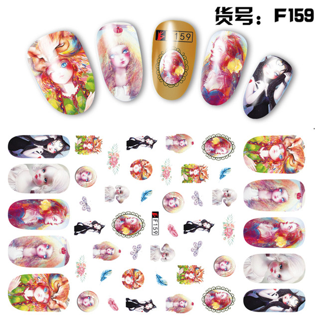 Online Shop 2 Sheets/lot Beautiful 3D Exaggerated Funny Doll Girls ...