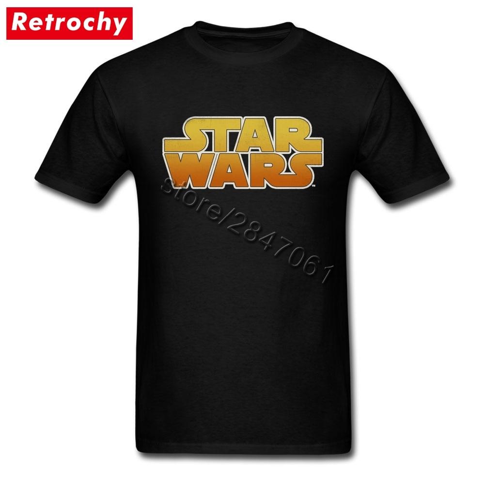 3XL Star Wars Logo Tees Shirt Men Awesome Short Sleeve Round Neck T Shirt Homme 1980