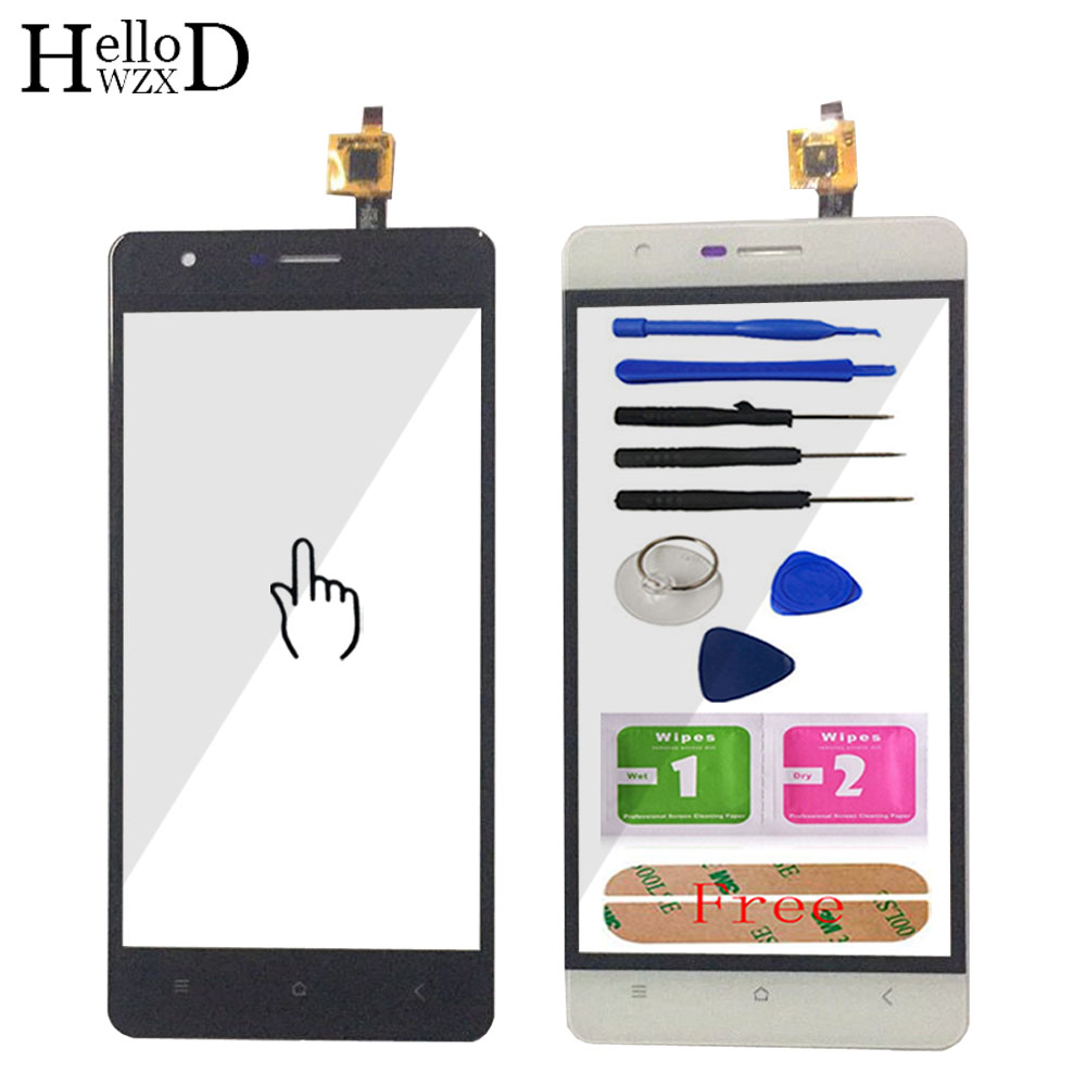5.0'' Mobile Phone Front Glass For Oukitel K4000 Touch Screen Glass Digitizer Panel Lens Sensor Flex Cable Tools + Adhesive