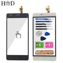 5.0 טלפון נייד קדמי זכוכית עבור Oukitel K4000 מגע מסך זכוכית Digitizer פנל עדשת חיישן להגמיש כבל כלים + דבק