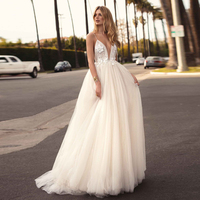 SSYFashion New White Beach Gown Sexy Deep V neck Lace Flower Beading Backless Sweep Train Long Formal Prom Gown Robe De Soiree