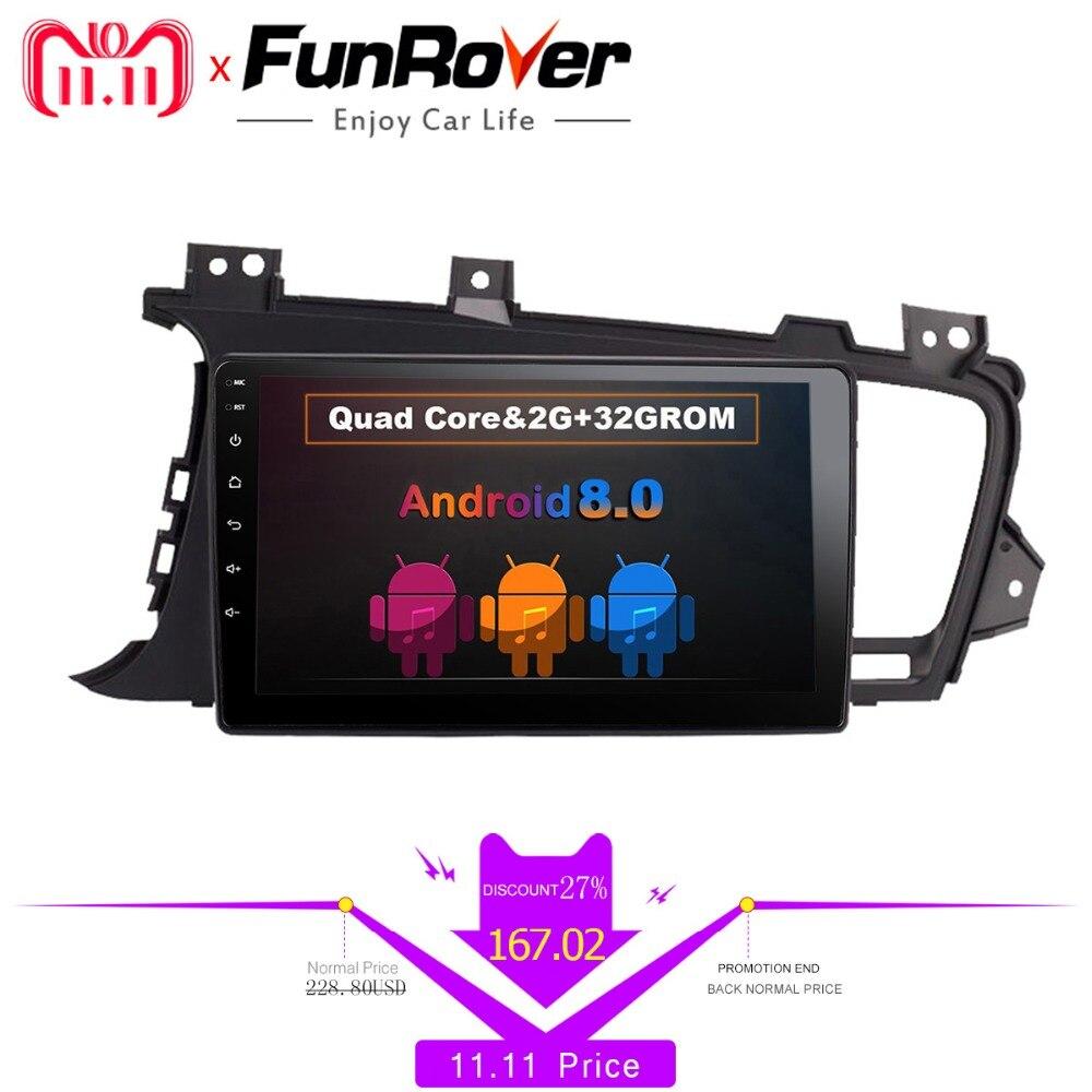 Funrover 9 Android 8.0 2 din Car DVD Player for Kia K5 Kia Optima 2011-2015 gps radio RDS stereo multimedia usb wifi video navi eunavi 7 2 din android 7 1 8 1 car dvd player radio multimedia gps navi for toyota rav 4 rav4 audio stereo 2din rds wifi usb