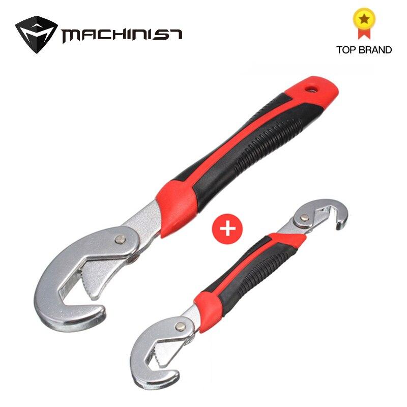 Llave de múltiples funciones Universal Quick Snap \ 'N agarre ajustable hembra de la cabeza de llave 9-32mm cromo acero de vanadio de reparación de automóviles
