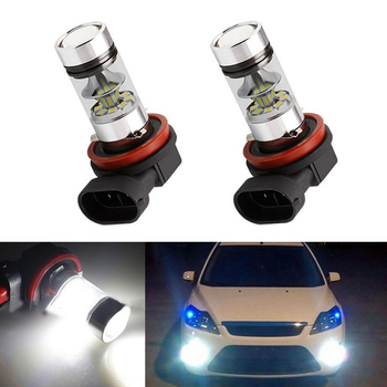 2x H8 H11 Led Bulb Fog Lights Car Lamp Auto Light Bulbs For FORD MONDEO MK3 MK4 C-MAX S-MAX FOCUS 01+ FUSION - discount item  40% OFF Car Lights
