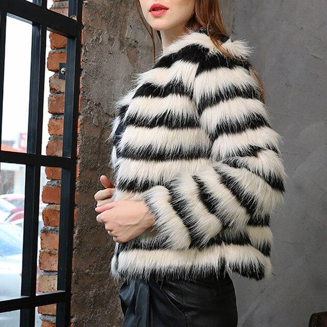 Mulheres Spandex Inverno da Pele Do Falso Casaco de Costura Senhoras Casaco Quente Gradiente Sólida Jaqueta Parka Casacos 827