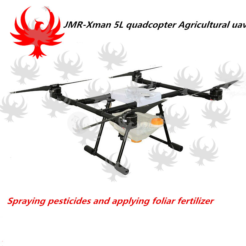 JMR-Xman 5L agricultural spray quadcopter UAV spray pesticide, foliar fertilizer pesticide spraying pump flow rate adjustable remote switch 25a current for diy agricultural multi rotor uav drones