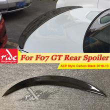 Fits For BMW F07 GT rear trunk Spoiler wing True Carbon Fiber P Style 5-Series 535i 550i 535iGT 550GT 2010-13