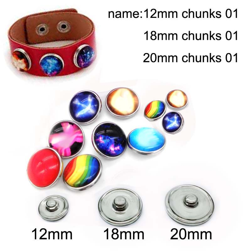 12mm 10mm 14mm 16mm 20mm 25mm 426 12pcs lot Girl Mix Round Glass Cabochons Jewelry Findings 18mm Snap Button Charm Bracelet in Jewelry Findings Components from Jewelry Accessories