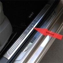 Для Volkswagen VW golf 7 Mk7 накладка на накладка 2013 golf 7 дверные пороги аксессуары для стайлинга автомобилей