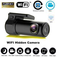 170 Derece HD Mini 1080 P Wifi araba dvr'ı Kamera Video Kaydedici Dash kamera Otomatik Sürüş Kaydedici Gece Görüş G-sensor sensörü WDR ve HDR r20