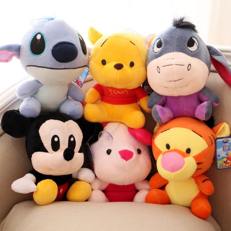 Cute-10-20cm-Disney-Mickey-Mouse-Plush-Figure-Toys-Disney-Winnie-The-Poohs-Stitch-Lilo-Plush