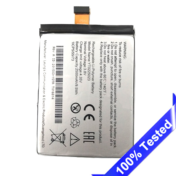Per Yotaphone 2 YD201 YD206 Batteria Insito Batteria Del Telefono 2500 mAh YT0225023 Testato Nuovo SanErqi