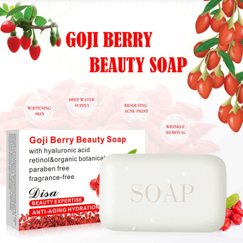 Goji Soap 100g Handmade Soap Whitening Blackhead Removal Bath Shower Scrub Hands Face Skin Care Clean Soaps
