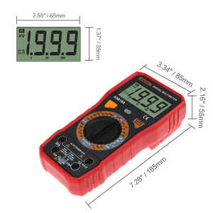 Image 3 - Aneng AN819A Digitale Multimeter Ac/Dc Spanning Ampèremeter Capaciteit Weerstand Triode Tester Current Meter + Crocodile Clips
