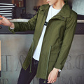 M-5XL Mens Overcoat Long Trench Coat Men T918 Autumn New Slim Fit Long Mens Trench Coat Fashion