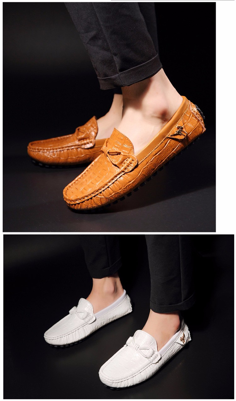 2016 KUYUPP Fashion Genuine Leather Men Loafers Casual Slip On Flats Summer Flat Heels Men Driving Shoes mocassin homme H48 (16)