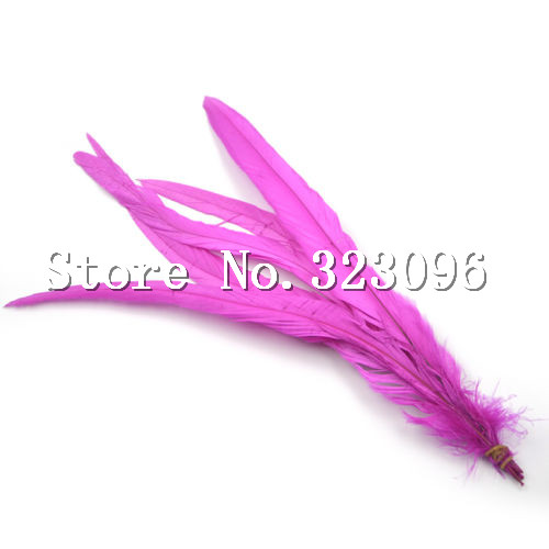 DIY Natural <font><b>Rooster</b></font> Feather fuschia feathers 35-40cm fancy feather dream catcher festival Wedding <font><b>decoration</b></font> <font><b>home</b></font>