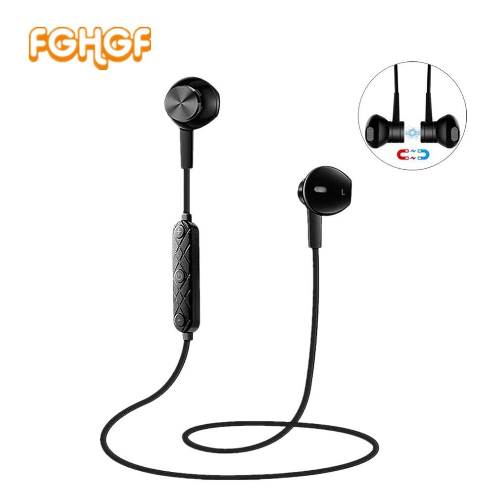 FGHGF i8 Bluetooth Écouteur avec Micro Casque Sport Sans Fil Écouteurs Stéréo Magnétique Casque Écouteurs pour Xiaomi Samsung
