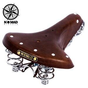 Велосипедное Сиденье Nomad, винтажное седло из натуральной кожи, оригинальная подушка в старом стиле