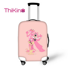 Thikin Pink Panther Travel Luggage Cover for Girls Cartoon School Trunk Suitcase Protective Bag Protector Jacket