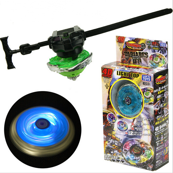 New Style Best Sellers 4D Light Top Colorful Luminescence Top Cyclone Battle Beyblade Measuring Tape Alloy Beyblade
