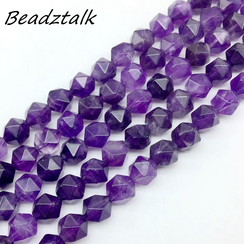 11 Colro 6mm 8mm 10mm A Grade Faceted Purple Crystal Stone Beads Diagnol Dilled DIY Loose Bead For Jewelry Making Amazonite