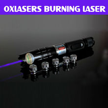 Buy oxlasers OX-BX3 445nm 1000mw-2000mw  HIGH POWER FOCUSABLE  blue laser pointer (5 star caps)  BURNING LASER+Free Shipping