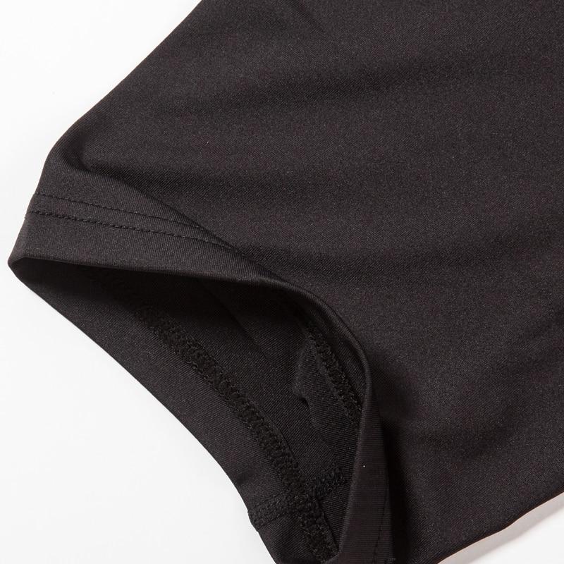 New Arrival KANPAUSE Mens Fitness Tight Short Sleeve Training T-shirt Running Sportswear