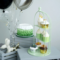 Клетка для кекс вечерние украшая инструменты свадебные сладкий десерт Настольный поставщика baker витрина торт стенд для воздушных шариков с