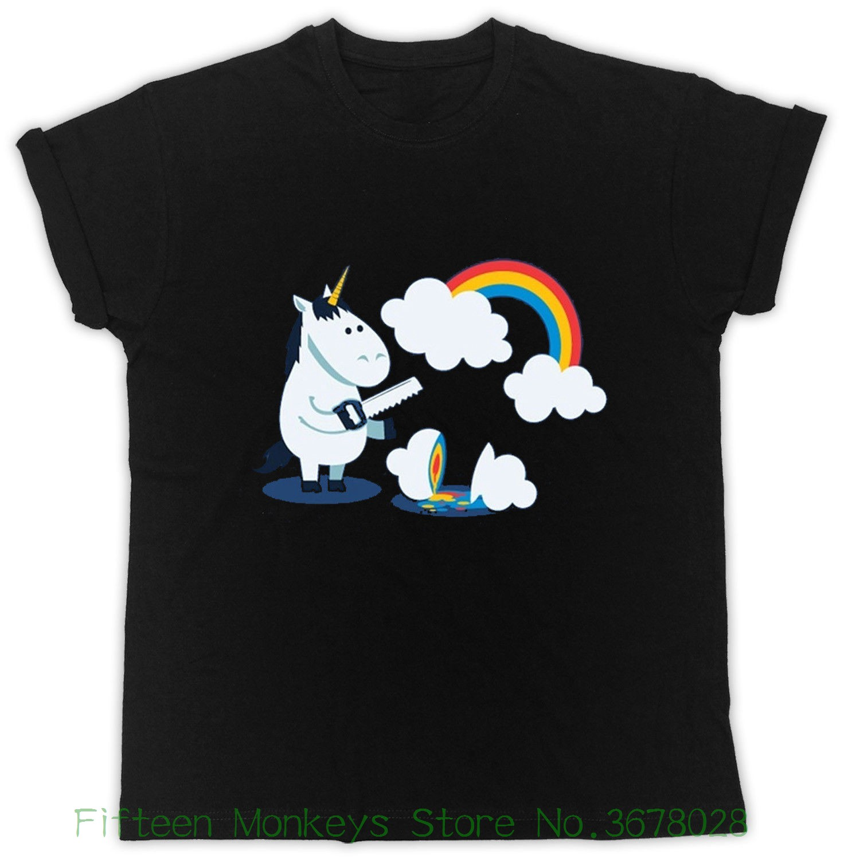 5798ac9641 Women's Tee Unicorn Rainbow Heavy Metal T Shirt Death Metal Rock Punk Funny  Unisex Tshirt On. US $12.77. HAHAYULE-JBH Summer Fashion ...