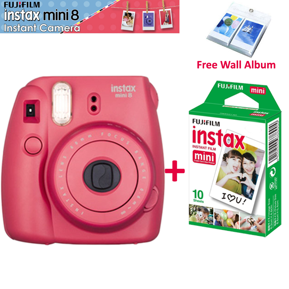 genuine fujifilm instax mini 8 camera raspberry color 10. Black Bedroom Furniture Sets. Home Design Ideas