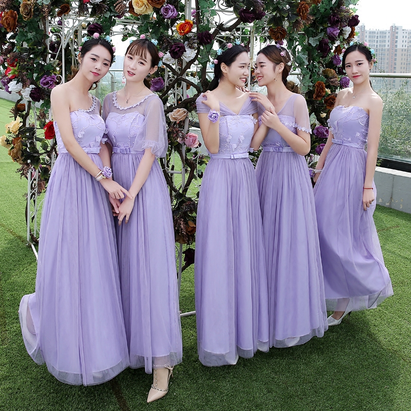 Drnwof 2017 New Long Cheap Bridesmaid Dresses Wedding