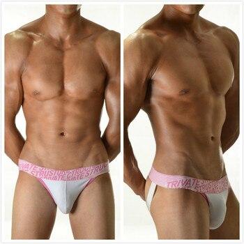 Sexy Mens Underwear Jock Straps Briefs Bikini Cotton Men Jockstraps Gay Penis Pouch Thong G Strings Low Waist Backless Buttocks