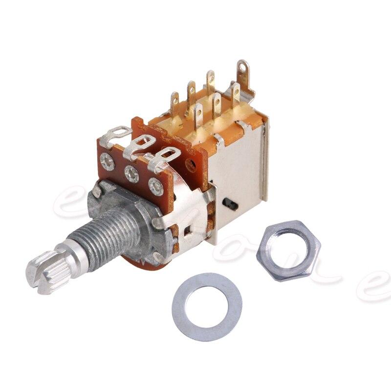 A500K Potentiometer Push Pull Switch Splined DPDT Pot Shaft18mm Electric Guitar Tone Volume Parts Guitar Parts & Accessories