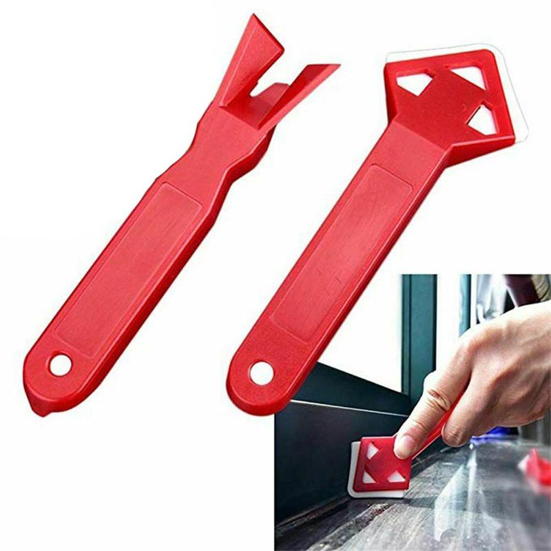 Squeegees 2pcs/set Caulking Finishing Sealant Grout Silicone Grout Remover Glass Cement Scraper Caulking Sealant House Cleaning Tools