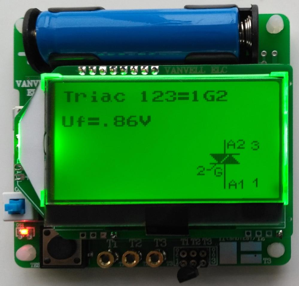 3.7V version of inductor-capacitor ESR meter DIY MG328 multifunction test s1008r 102k inductor mr li