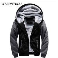 WEBONTINAL Winter Sweatshirt Men Hoodie Male Coat Hooded 2017 Brand Casual Zipper Thicken Velvet Hoody Man