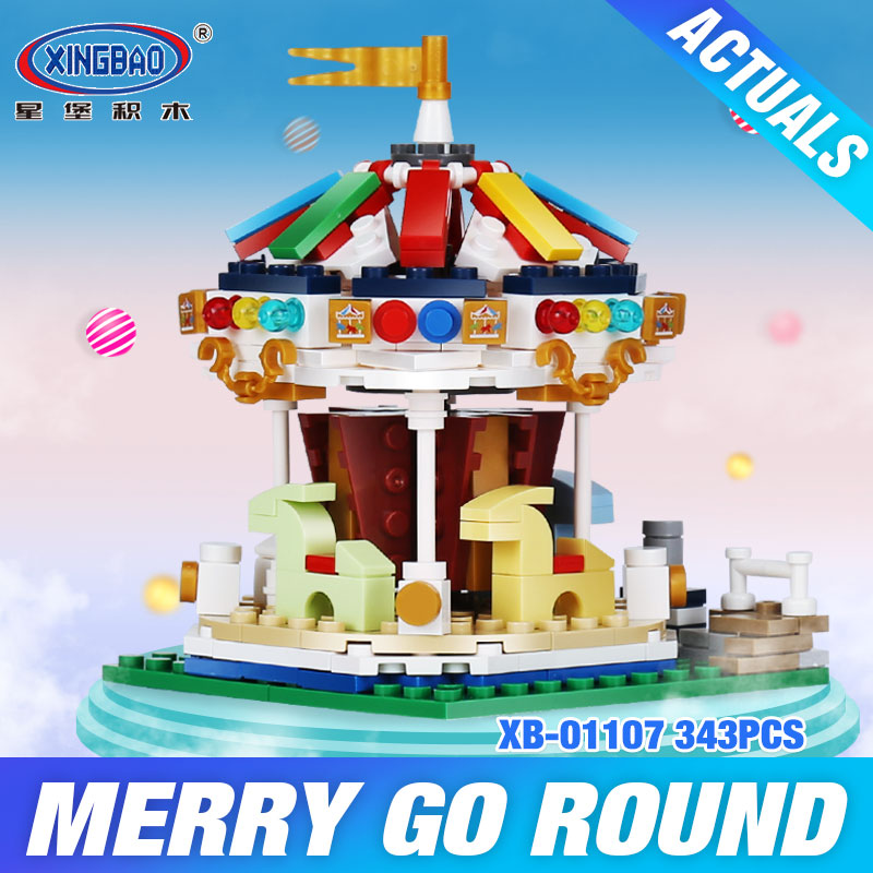 XingBao 01107 Genuine 343Pcs Colorful World Series The Merry Go Round Set Building Blocks Bricks Educational Toys Model As Gifts trachtenburg stop the merry–go–round stories o f women who broke cycle of abus pr only