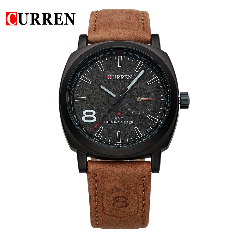 Curren Luxury Brand Sport Men Watch Quartz Fashion Casual Wristwatch Military Army Leather Band Watches Reloj Masculino 8139 jedir reloj hombre army quartz watch men brand luxury black leather mens watches fashion casual sport male clock men wristwatch