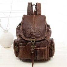 Винтажные женские туристические рюкзаки Back Pack для подростков модная одежда для девочек большие школьные сумки искусственная кожа черная сумка Mochila; rugzak vrouwen