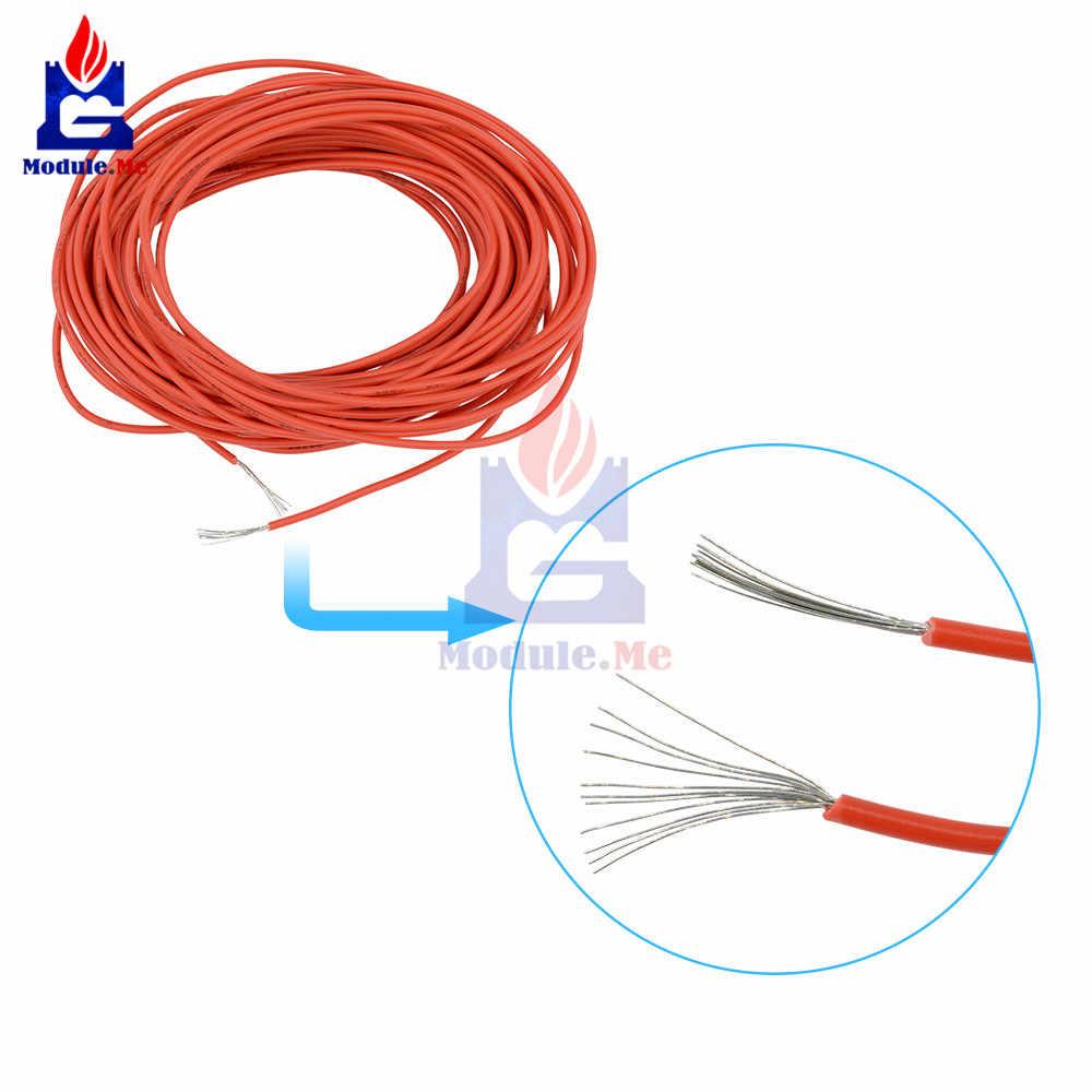 UL-1007 10 M 24AWG חוט למערכת 80C/300 V כבל חשמל אדום קו