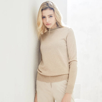 Pure Cashmere Sweater Women Sky Blue Black Pink Khaki Sweater Girl Winter Warm Basic Pullover Natural High Quality Free Shipping