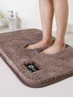 Toilet door mat household door carpet bedroom toilet door mat suction mat bathroom non slip mat thickened