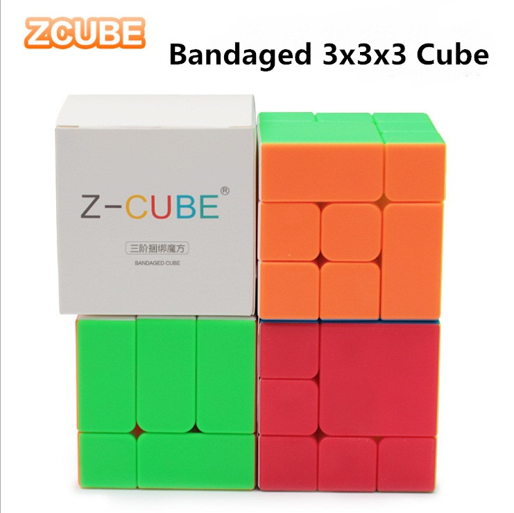 New ZCUBE Bandaged 3x3x3 Cube Stickerless 3x3 Magic Cubes Professional Brain Teaser Puzzle Cube For Magico Cube Educational Toys