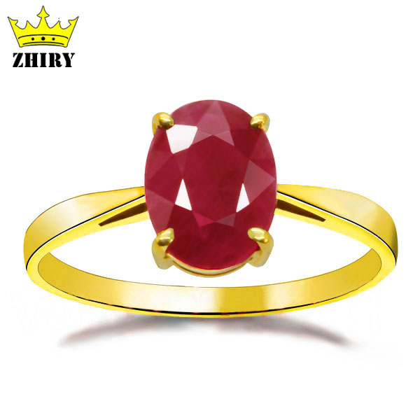 18 K yellow gold ring natural ruby gem stone precious wedding rings women anniverary noble 18 k gold natural ruby jewelry set