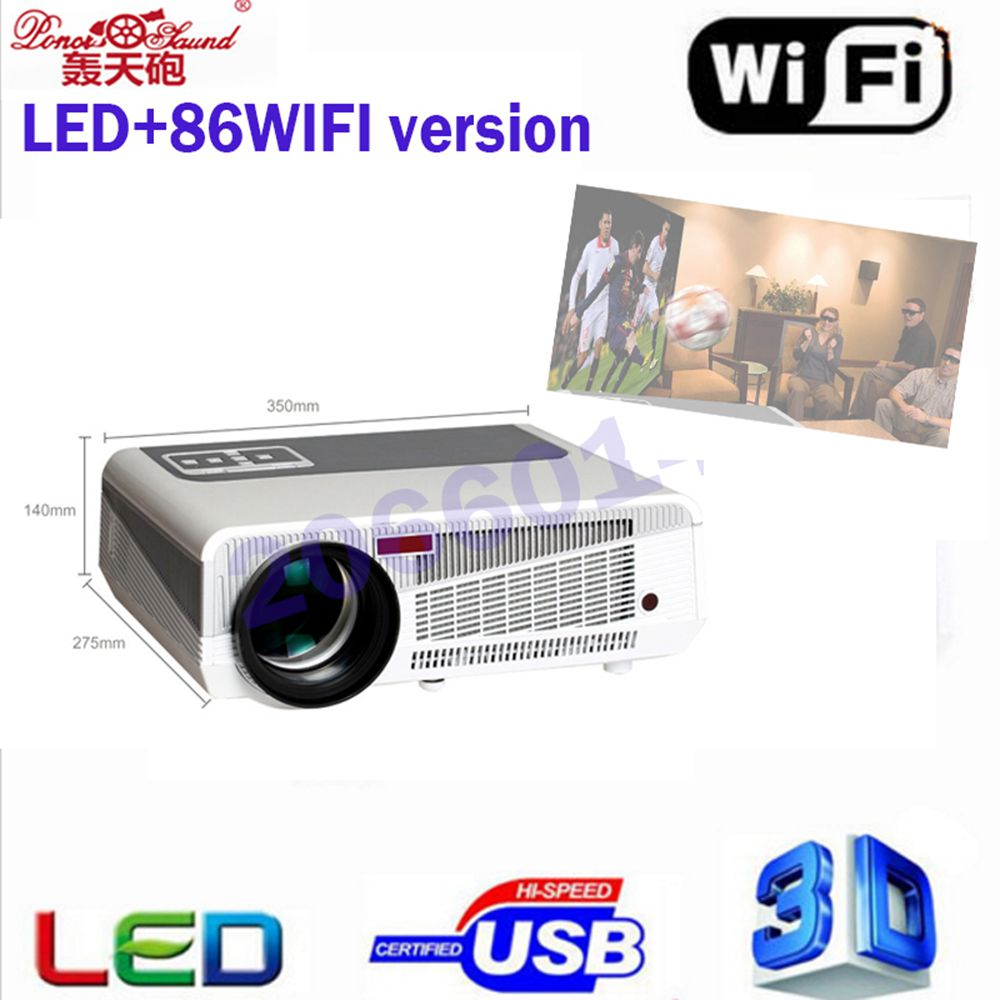 Poner Saund Full Hd New Mini Projector Proyector Led Lcd: ̿̿̿(•̪ )2017 Poner Saund '� Full HD Projector 5000 Lumens