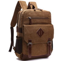 Casual Men Backpack Canvas College School Student Retro Rucksacks Male Travel Bag Multi Function Laptop Bags