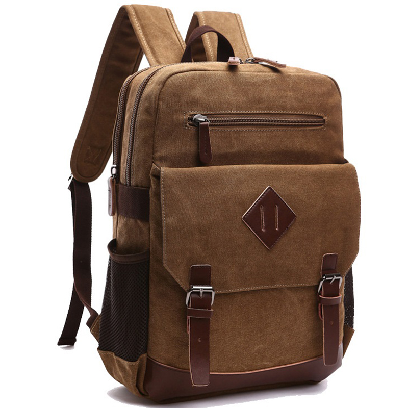 Casual Men Backpack Canvas College School Student Retro Rucksacks Male Travel Bag Multi-Function Laptop Bags Vintage Mochila CG men canvas 15 inch notebook backpack multi function travel daypack computer laptop bag male vintage school bags retro knapsack